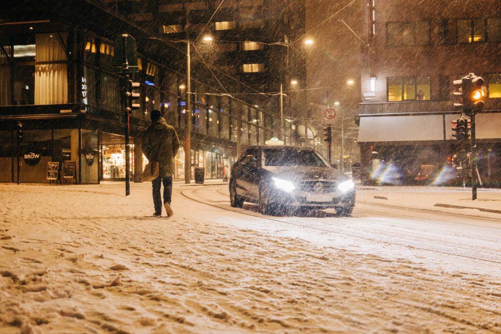 Snöröjning i Stockholm